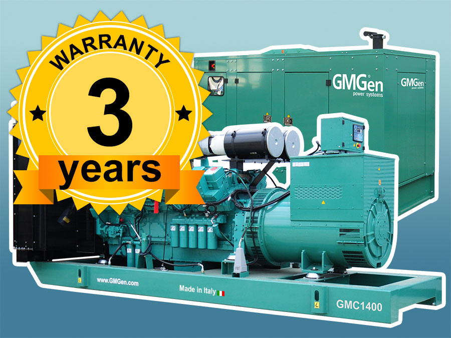 Unprecedented warranty on liquid cooled gensets